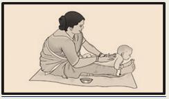 Massaging kid