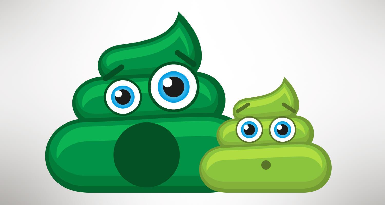Is green poop in babies normal?